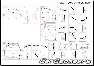 Кузовные размеры Toyota Prius 2003–2009 (NHW20) Collision
