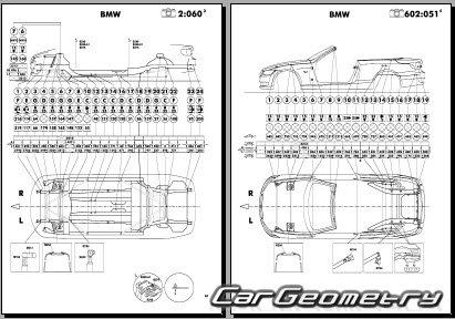 Кузовные размеры BMW 3 Series (E92 E93) 2006-2013 Coupe и