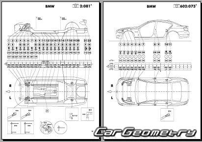 Кузовные размеры BMW 5 Series (F10) 2011-2017 (модели 528i