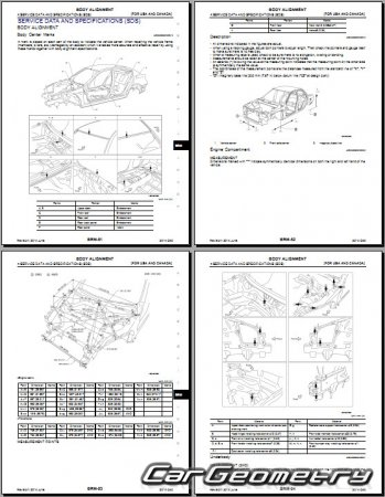 Infiniti Q40 (V36) 2014-2015 (2WD и AWD) Body Repair Manual