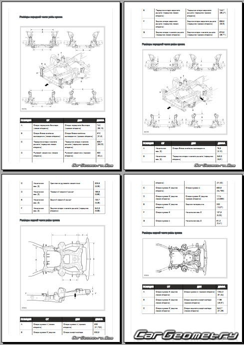 Range Rover Sport AWD 2006-20014 Body dimensions