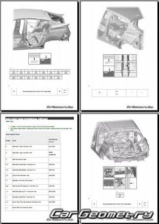 Кузовные размеры Тойота Приус 2016-2021 Collision Repair