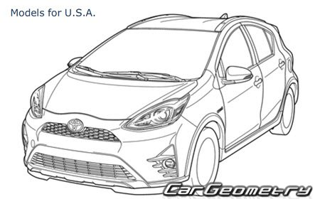 Toyota Prius C (NHP10) 2017-2019 Collision Repair Manual