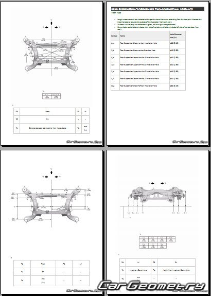 Геометрия кузова Lexus LC500 (URZ100) 2017-2024 Collision