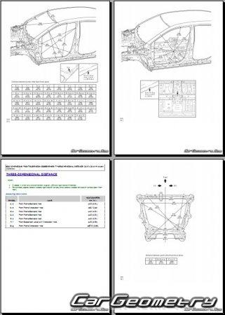 Геометрия кузова Тойота Авалон (GSX40) 2016-2019 Collision