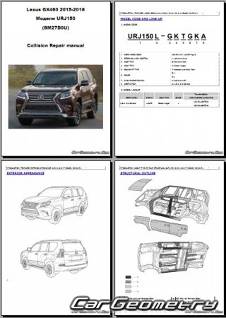 Размеры кузова Lexus GX 460 (URJ150) 2015-2018 Collision