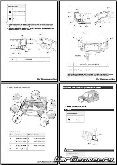 Размеры кузова Тойота Хайлюкс 2015-2021 (Regular Cab, Xtra