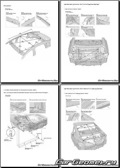 Размеры кузова Honda Accord 2018-2023 Body Repair Manual