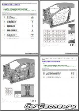 Геометрия кузова Toyota Camry (AXVA70, GSV70) 2017-2023