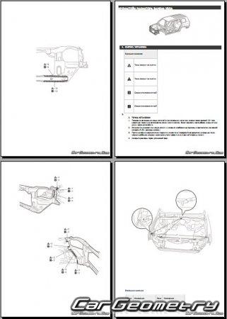 Кузовные размеры Тойота Ленд Крузер 200 2015–2018 EURO+USA