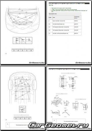 Геометрия кузова Тойота Ярис (KSP130, NSP131, NLP130