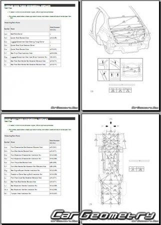 Контрольные размеры Лексус GS300h GS450h с 2017 (GWL10