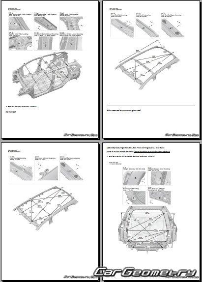Размеры кузова Honda CR-V 2017-2022 Body Repair Manual