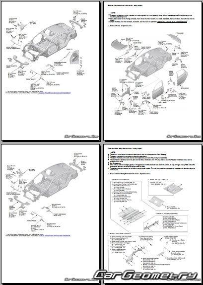 Размеры кузова Honda Civic Sedan (FC1, FC2) 2016-2022 Body