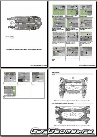 Кузовные размеры Kia Stinger (CK) 2018–2023 Body Repair Manual