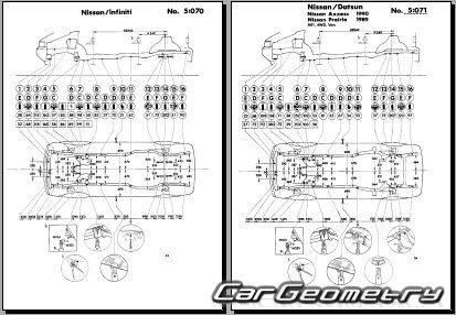 Размеры кузова Nissan Axxess (M11) 1990-1995 и Nissan