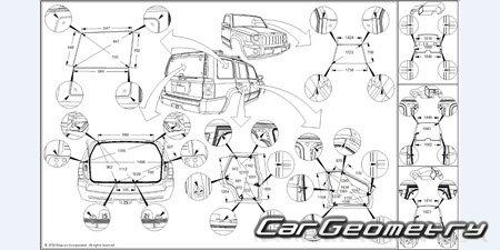 Jeep Commander (XK) 2006–2010 Body repair manual