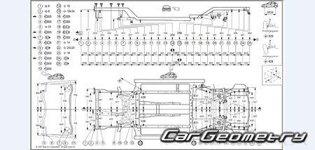 Кузовные размеры Jeep Patriot (MK74) 2007–2016 body repair