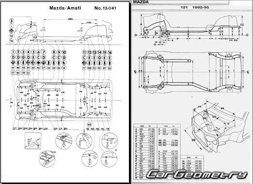 Mazda 121 Canvas Top (DB) 1991–1996 Body shop manual