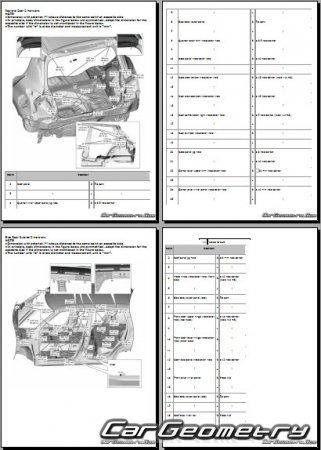 Кузовные размеры Suzuki Swift (A2L) 2017-2021 Body dimensions