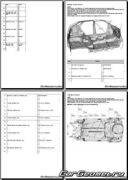 Размеры кузова Suzuki Baleno 2015-2021 Body dimensions