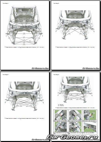 Кузовные размеры Hyundai i10 (AC3) с 2020 Body Repair Manual