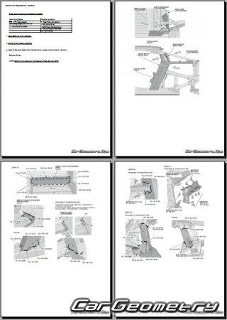 Honda NSX (Acura NSX) 2016-2023 Body Repair Manual