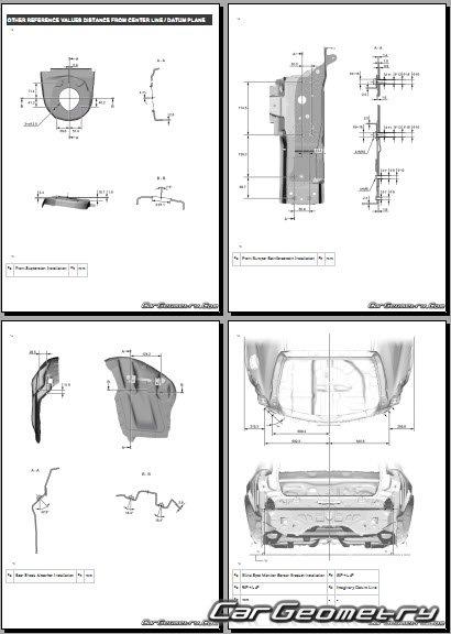 Кузовные размеры Lexus UX200, UX250h 2018-2025 (включая F