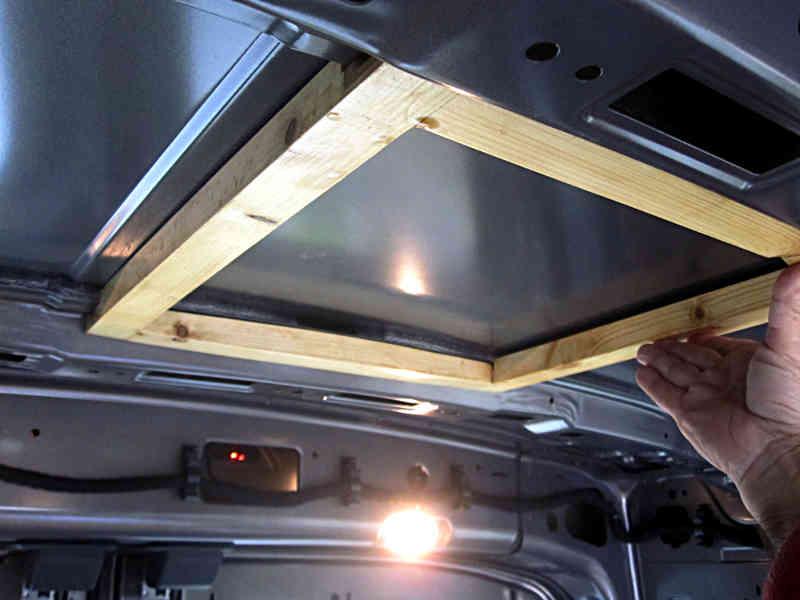 Interior Roof Vent Adapter  CargoVanConversioncom