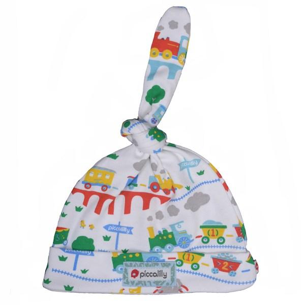 rainbow train knot hat
