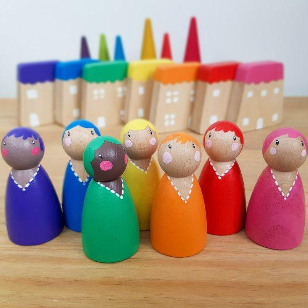 rainbow pegdolls