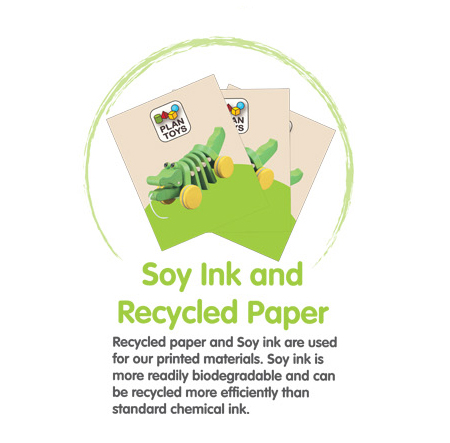 plan toys recelyed soy paper ink