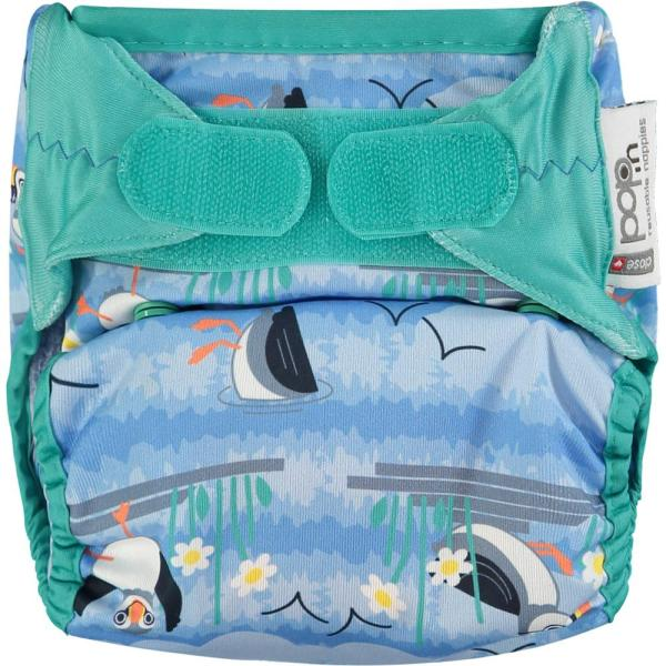 Puffin pop in nappy velcro