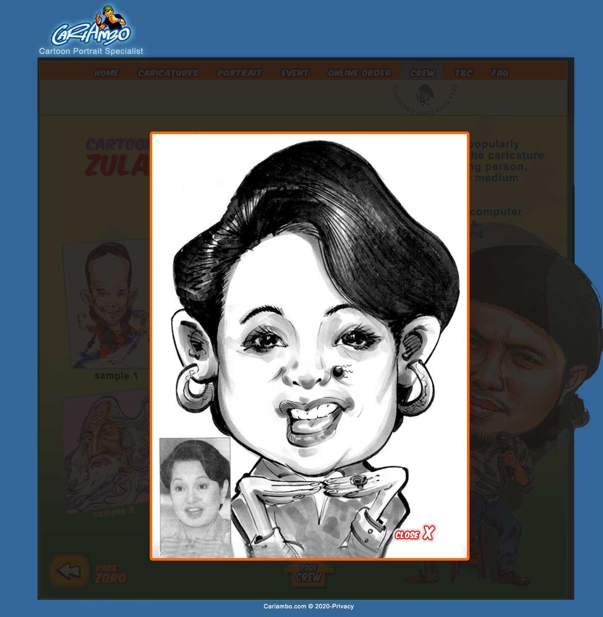 karikatur zulasree asree pelukis