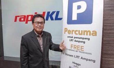 Parkir Percuma Enam Bulan Stesen LRT Ampang
