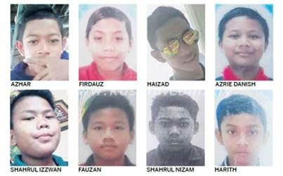 gadis rempuh 8 remaja di Johor Bahru