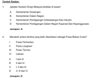 Contoh Soalan Daya Menyelesaikan Masalah Dan Pengetahuan Am Peperiksaan Pegawai Tadbir N41 Terengganu