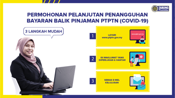 Moratorium PTPTN, Tangguh Bayar 3 Bulan Januari Sehingga Mac 2021