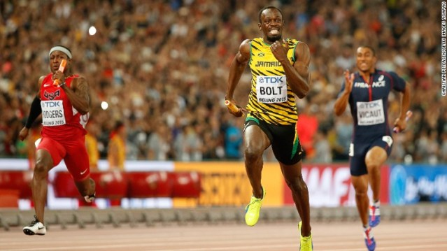 """""""Insane"""" Usain Bolt Completes Trilogy As Jamaica Dominates 4X100 Relay In Beijing"""