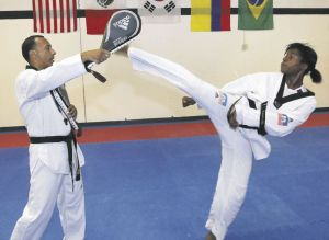 One of the youngest competitors at this Summer's Olympic Games, Aniya Louissaint, demonstrating her abilities.