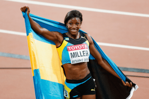 World Championship glory; Shaunae Miller knows what it is like to perform in the women's 400 meters as she won silver just last year in Beijing. She'll be looking to do one better by capturing the Gold in Rio tonight!