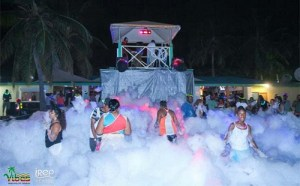 You might even catch one of their themed parties like this, one of their many foam parties!