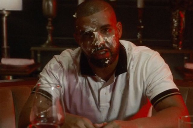 "Drake Gets Face Covered In Cheesecake For ""Child's Play"" Music Video"