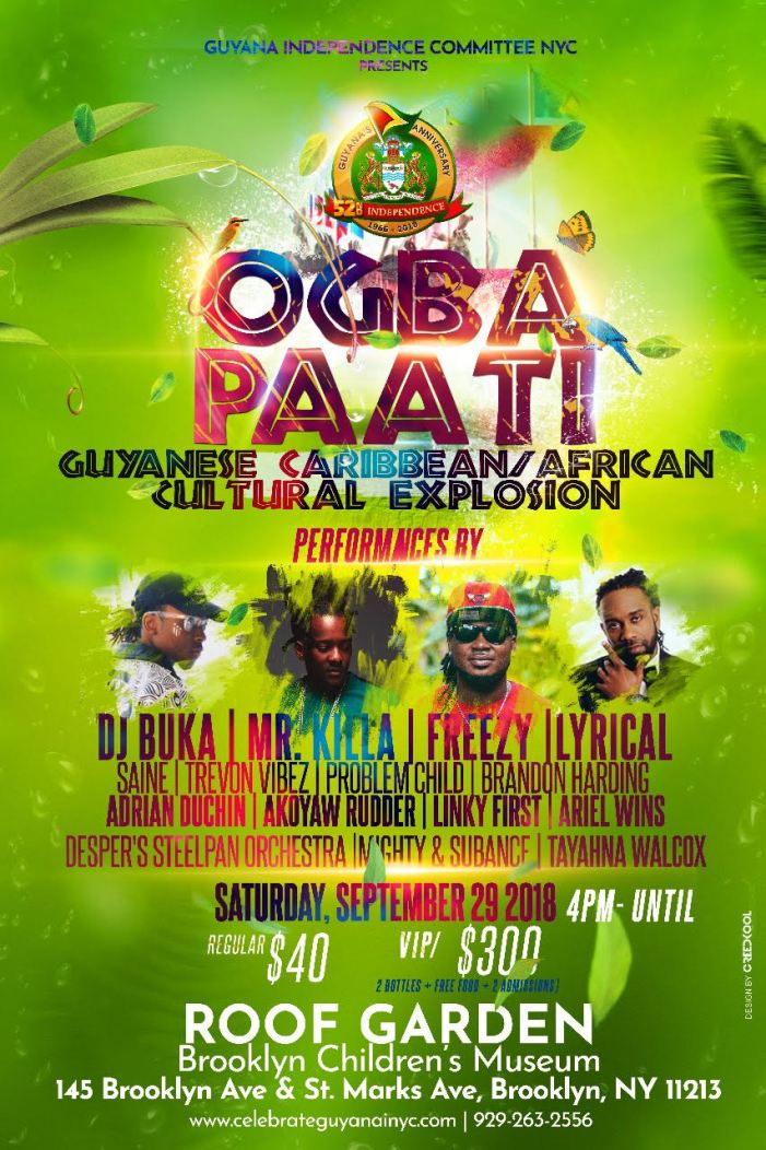 Ogba Paati: Celebrate Guyanese, Caribbean & African Culture Sep 29, 2018