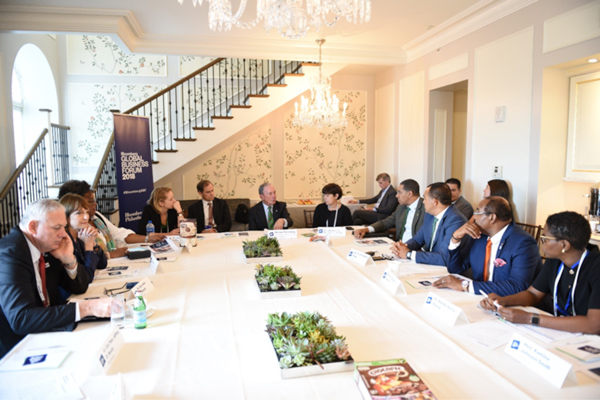 Caribbean leaders meet with Mike Bloomberg in NY to discuss diabetes and obesity prevention in the region