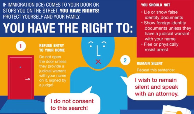 ICE Raids – Know Your Rights! Know Your Neighbor's Rights!