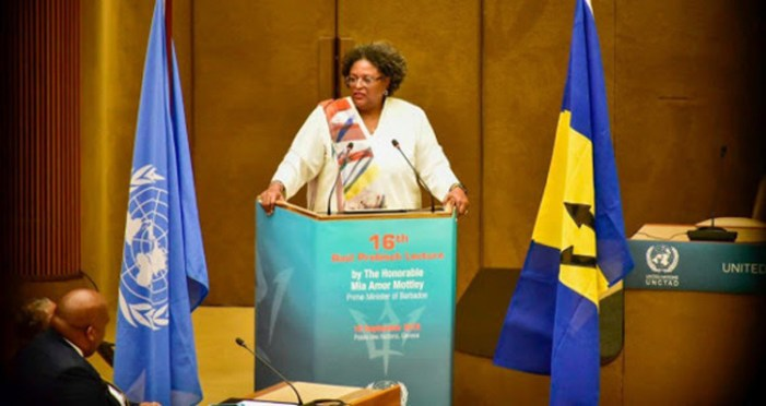 Prime Minister of Barbados Hon. Mia Mottley delivers the 16th Raúl Prebisch Lecture