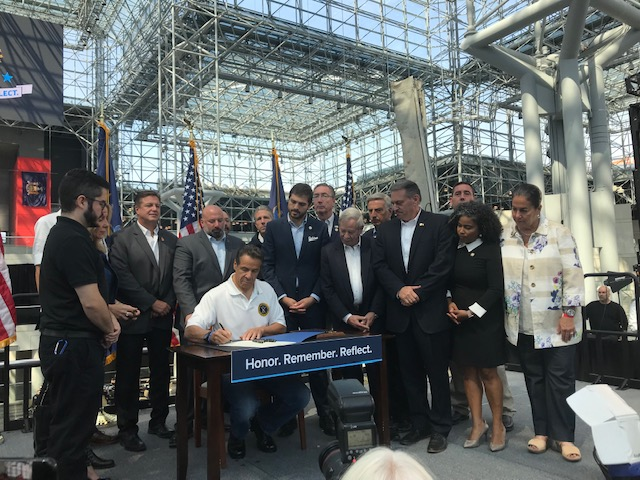 Governor Cuomo Signs Weprin Sponsored 9/11 Worker's Disability Benefits Bill