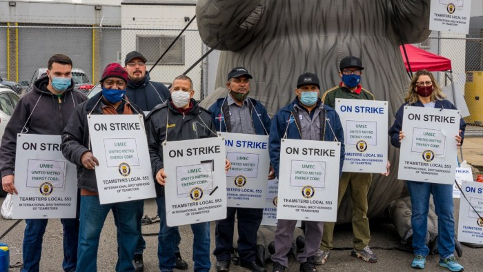 Immigrant Workers on Strike for Higher Wages at Catsimatidis' Oil Company