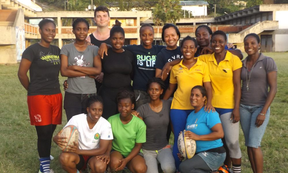 Rugby coach working with the St Lucian women's team while on his gap year